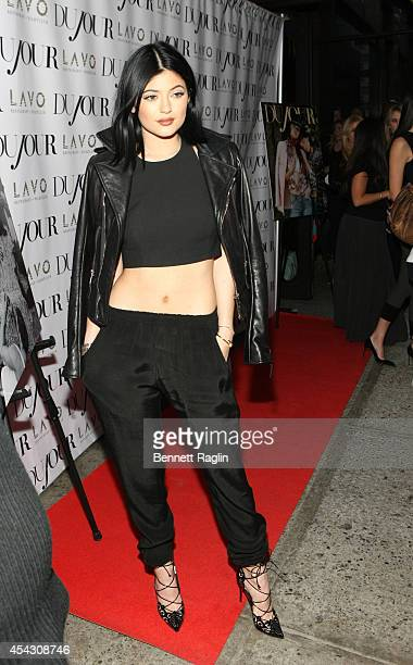 Kylie Jenner attends DuJour Magazine Celebrates Kendall Kylie Jenner at Lavo on August 28 2014 in New York City
