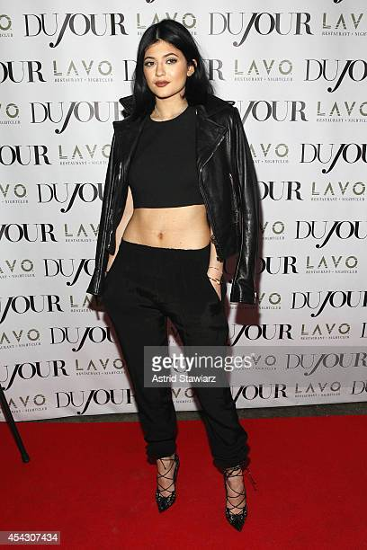 Kylie Jenner attends DuJour Magazine's Jason Binn celebrating Kendall and Kylie Jenner's Bruce Weber shoot presented by Juice Press at Lavo...
