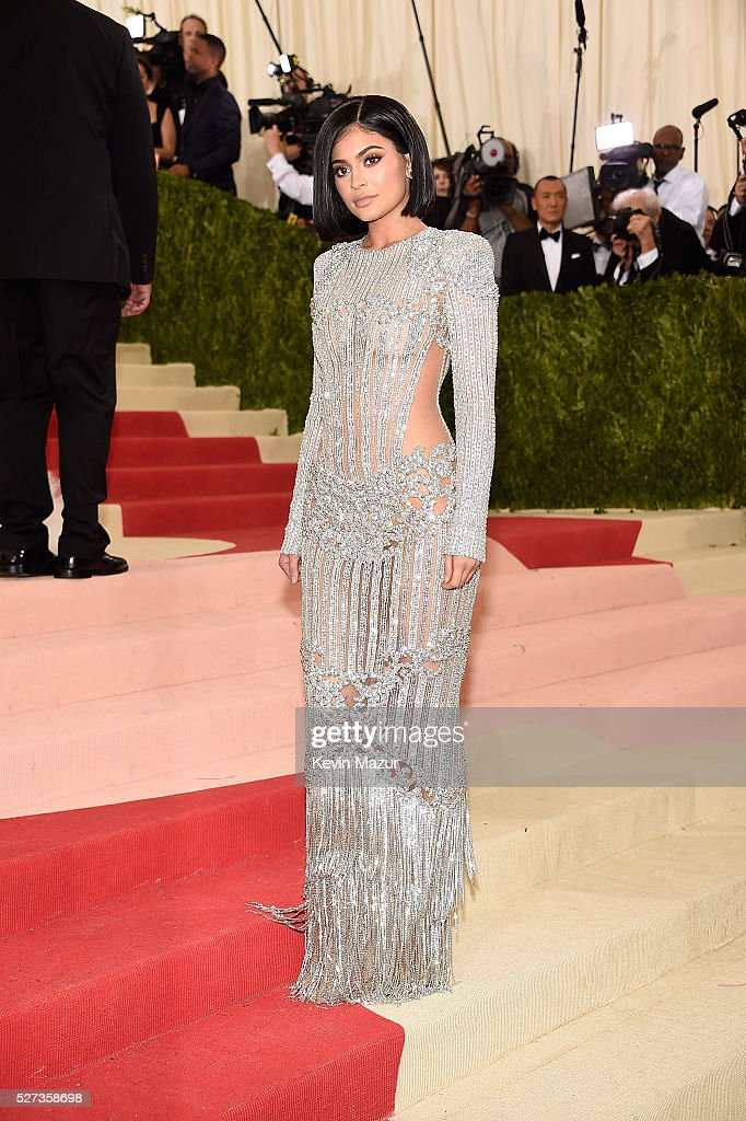 Kylie Jenner attends 'Manus x Machina: Fashion In An Age Of Technology' Costume Institute Gala at Metropolitan Museum of Art on May 2, 2016 in New York City.