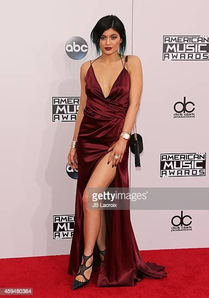 Kylie Jenner attends the 2014 American Music Awards at Nokia Theatre LA Live on November 23 2014 in Los Angeles California