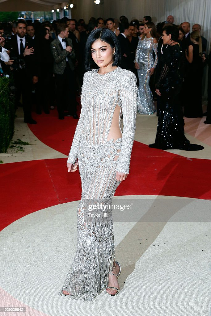 Kylie Jenner attends the 2016 Costume Institute Gala at the Metropolitan Museum of Art on May 02, 2016 in New York, New York.