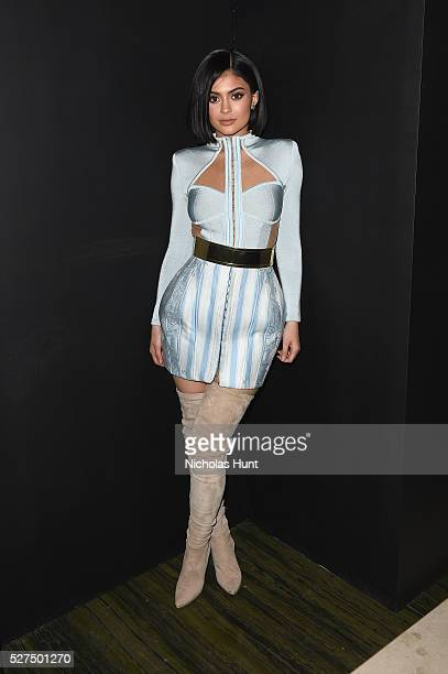 Kylie Jenner attends the Balmain and Olivier Rousteing after the Met Gala Celebration on May 02 2016 in New York New York