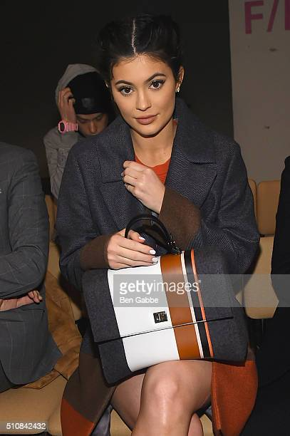 Kylie Jenner attends the Boss Womenswear Fall 2016 fashion show during New York Fashion Week The Shows on February 17 2016 in New York City