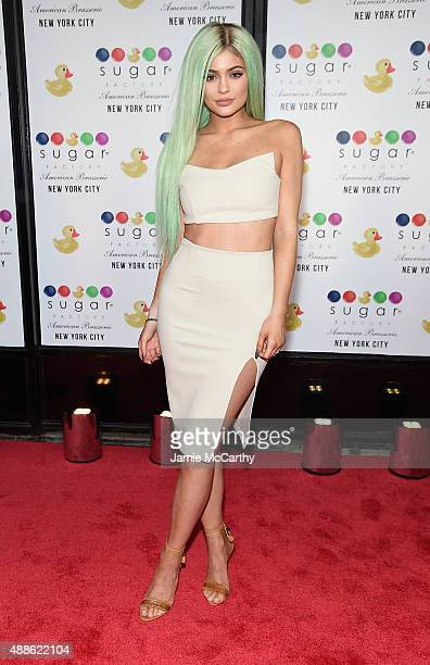 Kylie Jenner attends the Grand Opening of the Sugar Factory American Brasserie on September 16 2015 in New York City