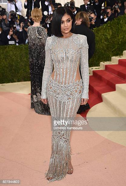 Kylie Jenner attends the 'Manus x Machina Fashion In An Age Of Technology' Costume Institute Gala at Metropolitan Museum of Art on May 2 2016 in New...