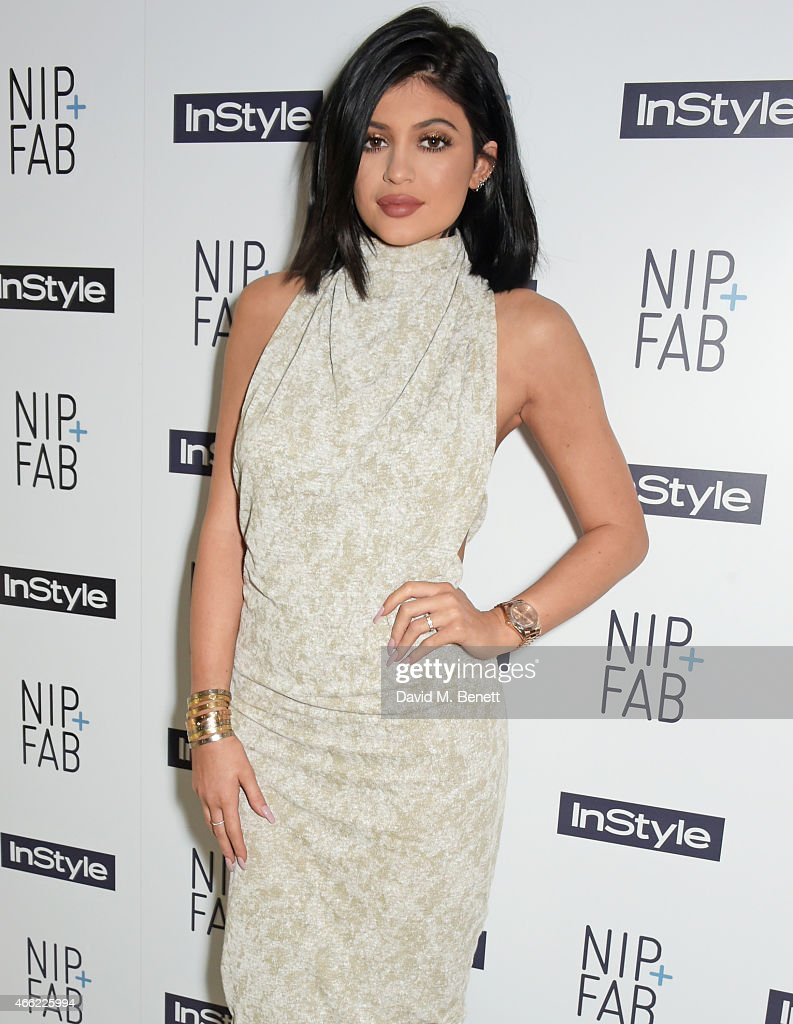Kylie Jenner attends the NIPFAB InStyle Tea Party at The London Edition Hotel on March 14 2015 in London England