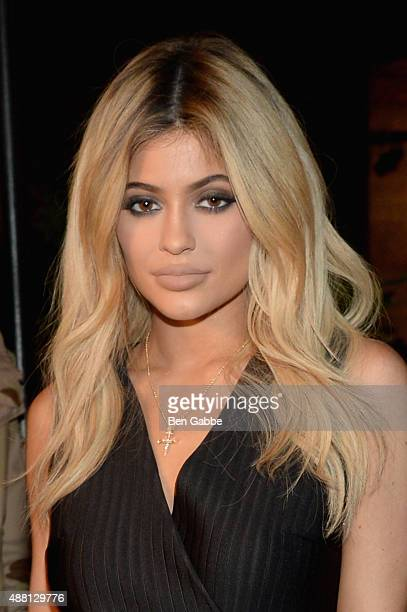 Kylie Jenner attends the Opening Ceremony Spring 2016 fashion show during New York Fashion Week at 25 Wall Street on September 13 2015 in New York...