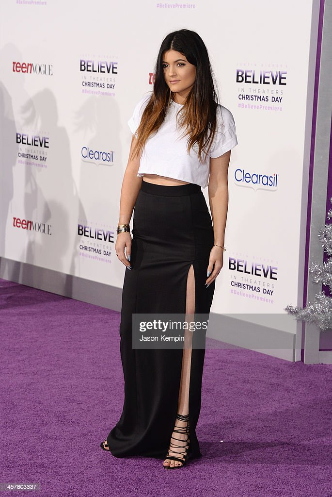 <a gi-track='captionPersonalityLinkClicked' href=/galleries/search?phrase=Kylie+Jenner&family=editorial&specificpeople=870409 ng-click='$event.stopPropagation()'>Kylie Jenner</a> attends the premiere of Open Road Films' 'Justin Bieber's Believe' at Regal Cinemas L.A. Live on December 18, 2013 in Los Angeles, California.
