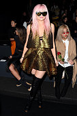 Kylie Jenner attends the Vera Wang Collection Fall 2016 fashion show during New York Fashion Week The Shows at The Arc Skylight at Moynihan Station...