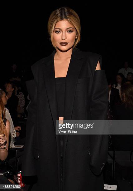 Kylie Jenner attends Vera Wang Spring 2016 during New York Fashion Week at Cedar Lake on September 15 2015 in New York City