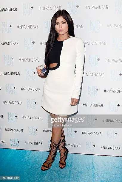 Kylie Jenner is announced as Brand Ambassador for Nip Fab at W Hollywood on December 15 2015 in Hollywood California