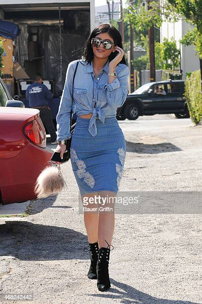 Kylie Jenner is seen at Fred Segal on March 31 2015 in Los Angeles California