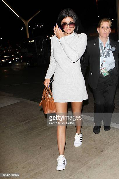 Kylie Jenner is seen at LAX on August 15 2015 in Los Angeles California