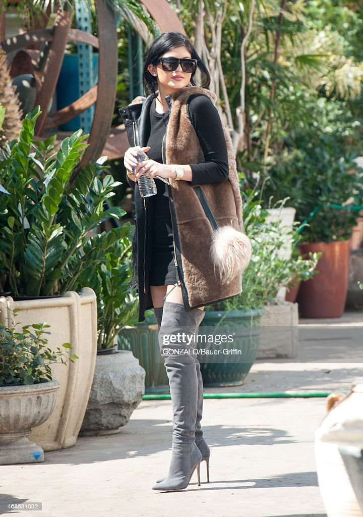 Kylie Jenner is seen in Los Angeles on March 25 2015 in Los Angeles California