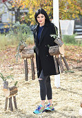 Kylie Jenner is seen shopping for a Christmas tree on December 10 2014 in Calabasas California
