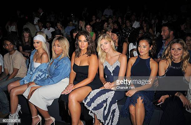Kylie Jenner Jordyn Woods Ashley Graham Devon Windsor Jamie Chung and Olivia Palermo are seen at the Jonathan Simkhai show during September 2016 MADE...