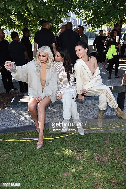 Kylie Jenner Kim Kardashian and Kendall Jenner attend the Kanye West Yeezy Season 4 fashion show on September 7 2016 in New York City