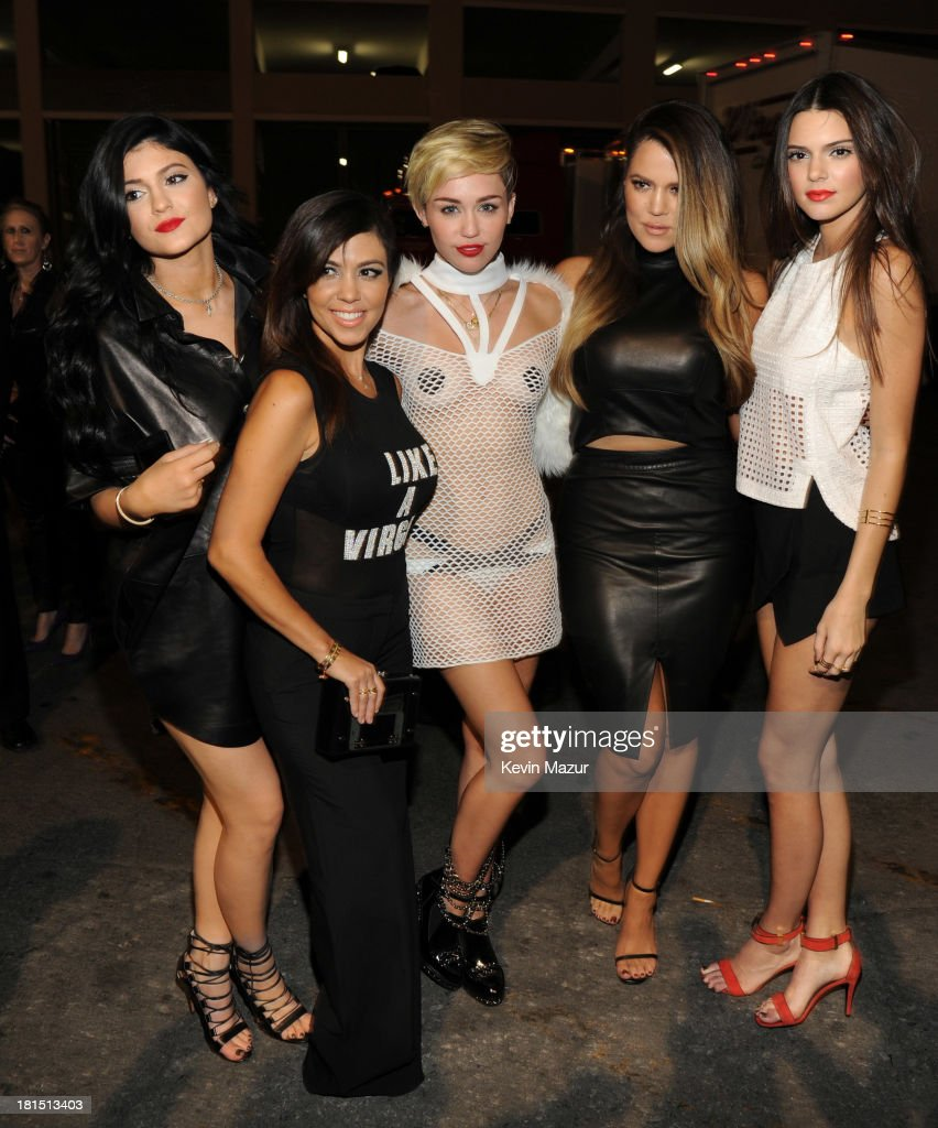Kylie Jenner, Kourtney Kardashian, Miley Cyrus, Khloe Kardashian Odom and Kendall Jenner attend the iHeartRadio Music Festival at the MGM Grand Garden Arena on September 20, 2013 in Las Vegas, Nevada.