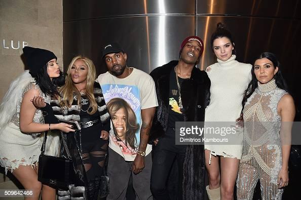 Kylie Jenner Lil' Kim Kanye West ASAP Rocky Kendall Jenner and Kourtney Kardashian attend Kanye West Yeezy Season 3 on February 11 2016 in New York...