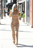 Kylie Jenner with blue hair is seen on July 10 2015 in Los Angeles California