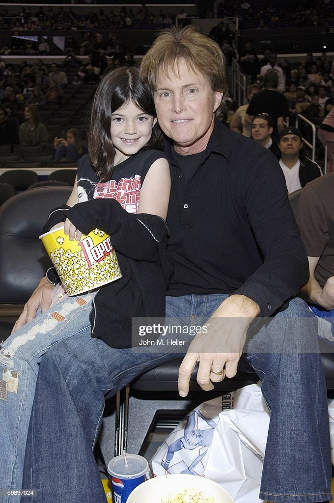 Kylie Jenner with her dad Olympic Gold Medalist Bruce Jenner attends the Harlem Globetrotters 80th Anniversary 'Unstoppable' North American Tour at...