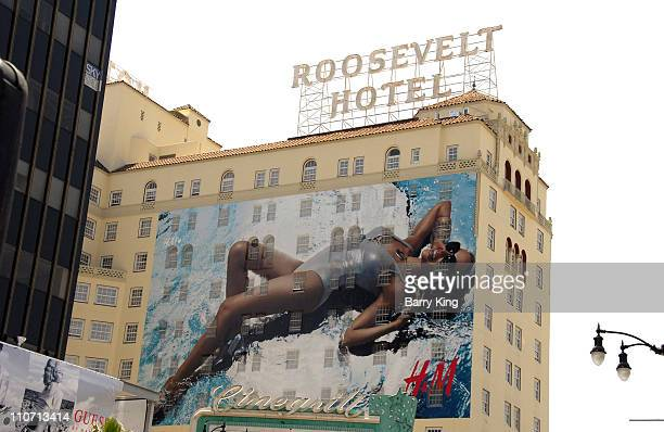 Kylie Minogue Advertisement on side of Hollywood Roosvelt Hotel