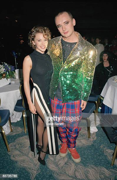 Kylie Minogue and Boy George at the London Fashion Awards 13th October 1991