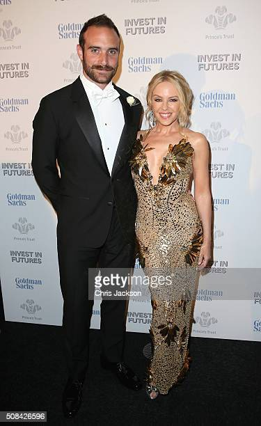 Kylie Minogue and boyfriend Josh Sasse attend a predinner reception for the Prince's Trust Invest in Futures Gala Dinner at The Old Billingsgate on...