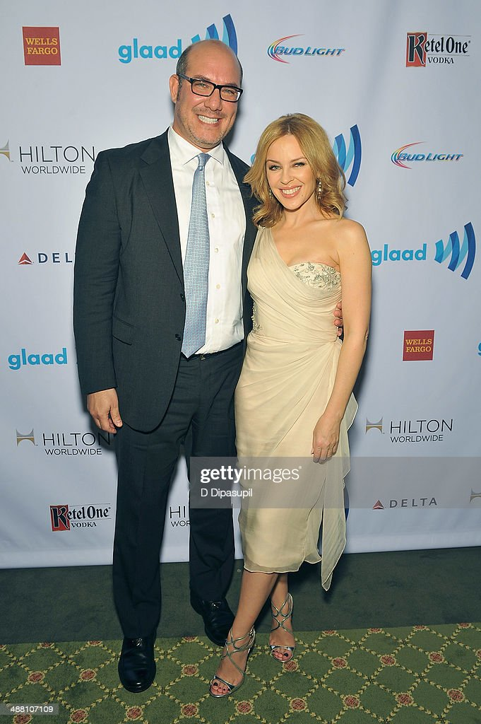 <a gi-track='captionPersonalityLinkClicked' href=/galleries/search?phrase=Kylie+Minogue&family=editorial&specificpeople=201671 ng-click='$event.stopPropagation()'>Kylie Minogue</a> and guest attend the 25th Annual GLAAD Media Awards on May 3, 2014 in New York City.