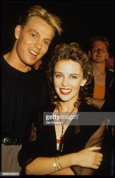 Kylie Minogue and Jason Donovan TV Show 'Tien om te zien' Blankenberge Belgium