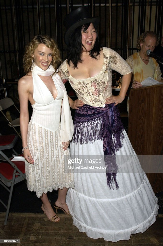 Kylie Minogue and Margaret Cho during Outfest 2002 The Gay Lesbian Film Festival at The Orpheum Theatre in Los Angeles California United States