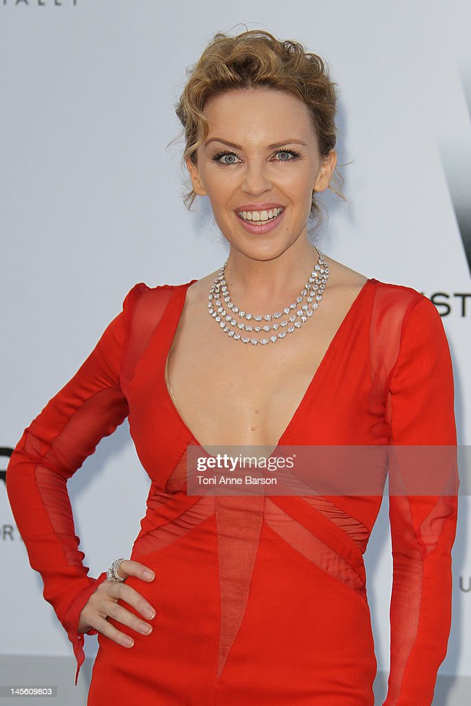Kylie Minogue arrives at amfAR's Cinema Against AIDS at Hotel Du Cap on May 24, 2012 in Antibes, France.