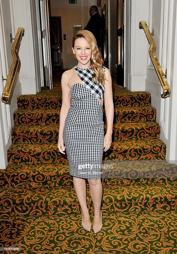 Kylie Minogue arrives at The Q Awards 2012 at the Grosvenor House Hotel on October 22 2012 in London England