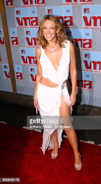 Kylie Minogue arriving at the MTV Video Music Awards Radio City Music Hall New York USA * Kylie Minogue scored a treble when she was voted both the...