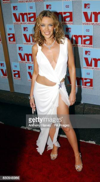 Kylie Minogue arriving at the MTV Video Music Awards Radio City Music Hall New York USA * 7/1/03 Kylie Minogue scored a treble when she was voted...