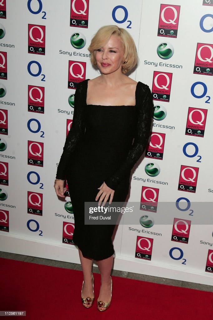 Kylie Minogue arriving at the Q Awards held at Grosvenor House Hotel on October 8 2007 in London England