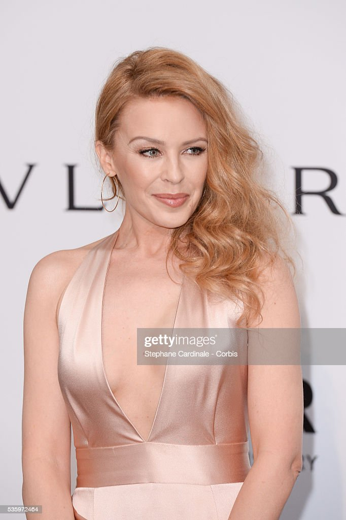 Kylie Minogue at the amfAR's 21st Cinema Against AIDS Gala at Hotel du Cap-Eden-Roc during the 67th Cannes Film Festival