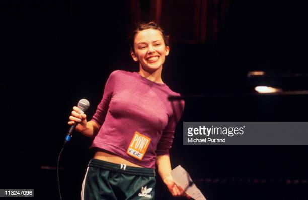 Kylie Minogue at the Poetry Olympics Royal Albert Hall London 1996