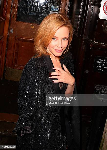 Kylie Minogue attending the Stella McCartney Shop Christmas Lights Switch On on November 26 2014 in London England