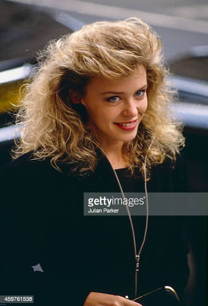 Kylie Minogue attends a charity event in London on April 11988 in London United Kingdom