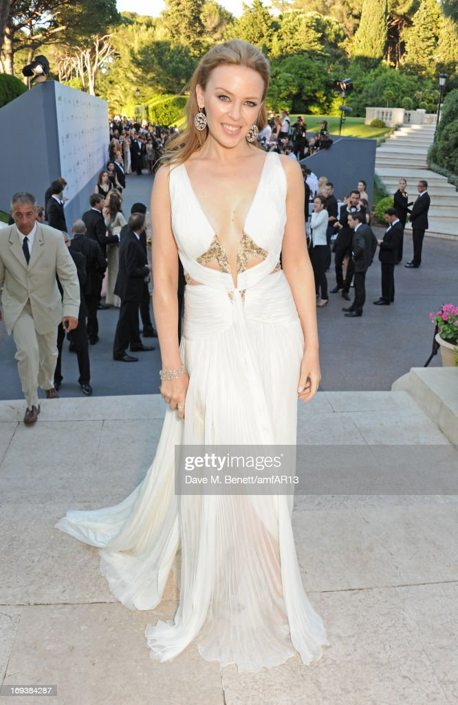 <a gi-track='captionPersonalityLinkClicked' href=/galleries/search?phrase=Kylie+Minogue&family=editorial&specificpeople=201671 ng-click='$event.stopPropagation()'>Kylie Minogue</a> attends amfAR's 20th Annual Cinema Against AIDS during The 66th Annual Cannes Film Festival at Hotel du Cap-Eden-Roc on May 23, 2013 in Cap d'Antibes, France.