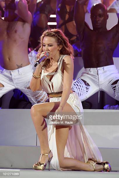 Kylie Minogue attends the 2010 Wind Music Awards on May 29 2010 in Verona Italy