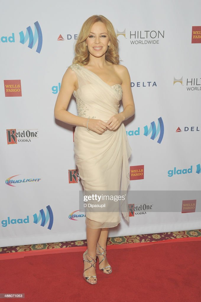<a gi-track='captionPersonalityLinkClicked' href=/galleries/search?phrase=Kylie+Minogue&family=editorial&specificpeople=201671 ng-click='$event.stopPropagation()'>Kylie Minogue</a> attends the 25th Annual GLAAD Media Awards In New York on May 3, 2014 in New York City.