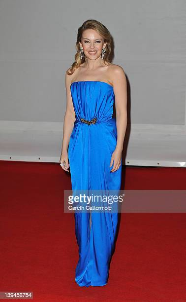 Kylie Minogue attends The BRIT Awards 2012 at the O2 Arena on February 21 2012 in London England