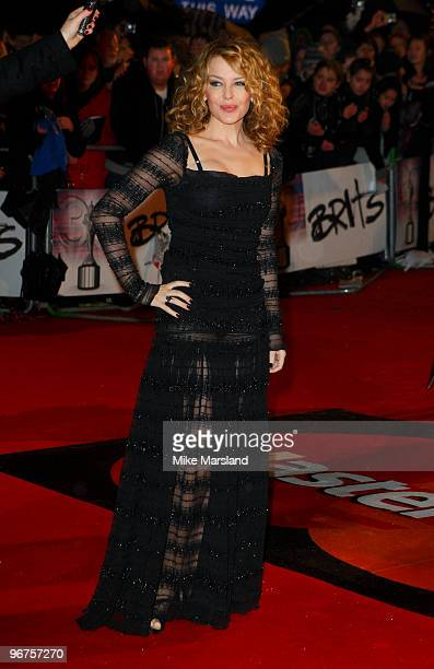 Kylie Minogue attends The Brit Awards at Earls Court on February 16 2010 in London England