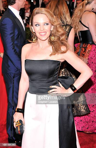 Kylie Minogue attends the Costume Institute Gala for the 'PUNK Chaos to Couture' exhibition at the Metropolitan Museum of Art on May 6 2013 in New...