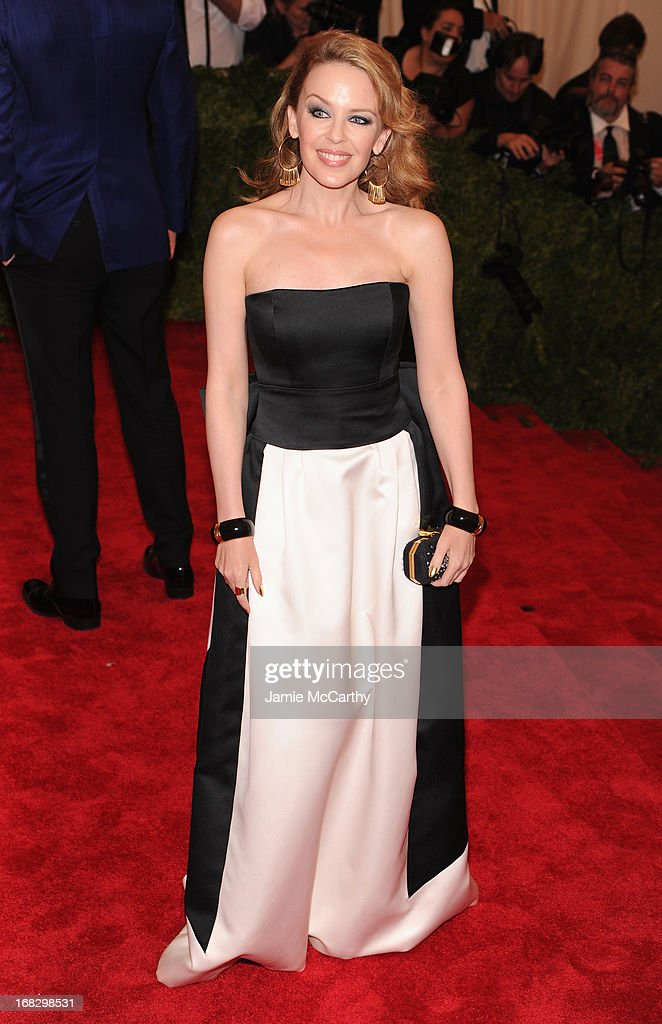 Kylie Minogue attends the Costume Institute Gala for the 'PUNK: Chaos to Couture' exhibition at the Metropolitan Museum of Art on May 6, 2013 in New York City.
