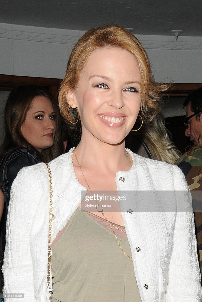 Kylie Minogue attends The Hurly Burly Show Gala night held at The Duchess Theatre on July 10, 2012 in London, England.