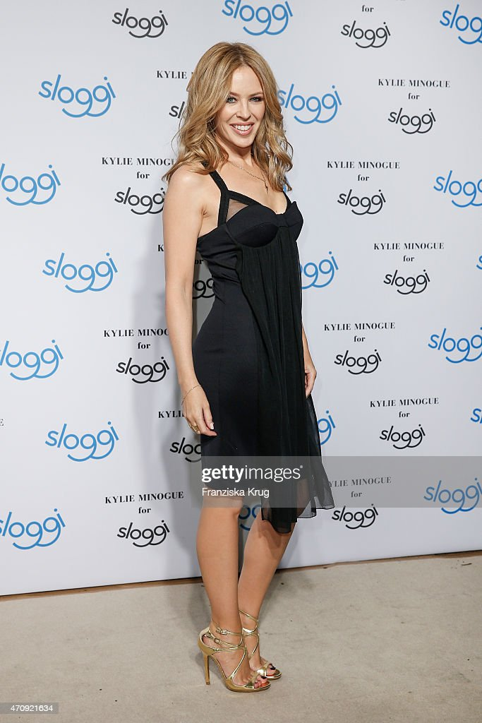 <a gi-track='captionPersonalityLinkClicked' href=/galleries/search?phrase=Kylie+Minogue&family=editorial&specificpeople=201671 ng-click='$event.stopPropagation()'>Kylie Minogue</a> attends the <a gi-track='captionPersonalityLinkClicked' href=/galleries/search?phrase=Kylie+Minogue&family=editorial&specificpeople=201671 ng-click='$event.stopPropagation()'>Kylie Minogue</a> For Sloggi Collection Presentation on April 23, 2015 in Berlin, Germany.