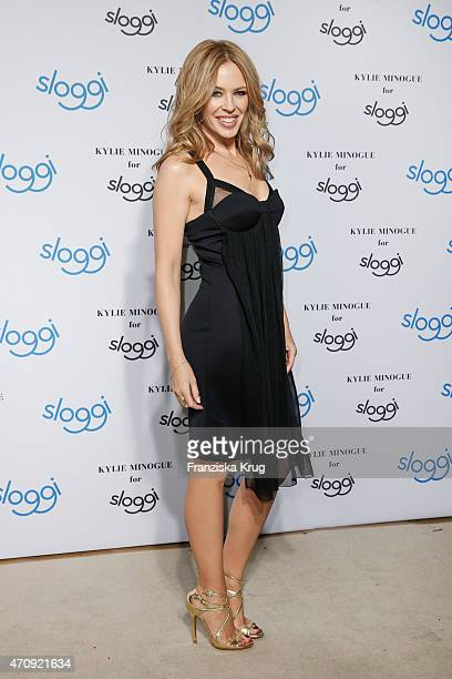 Kylie Minogue attends the Kylie Minogue For Sloggi Collection Presentation on April 23 2015 in Berlin Germany
